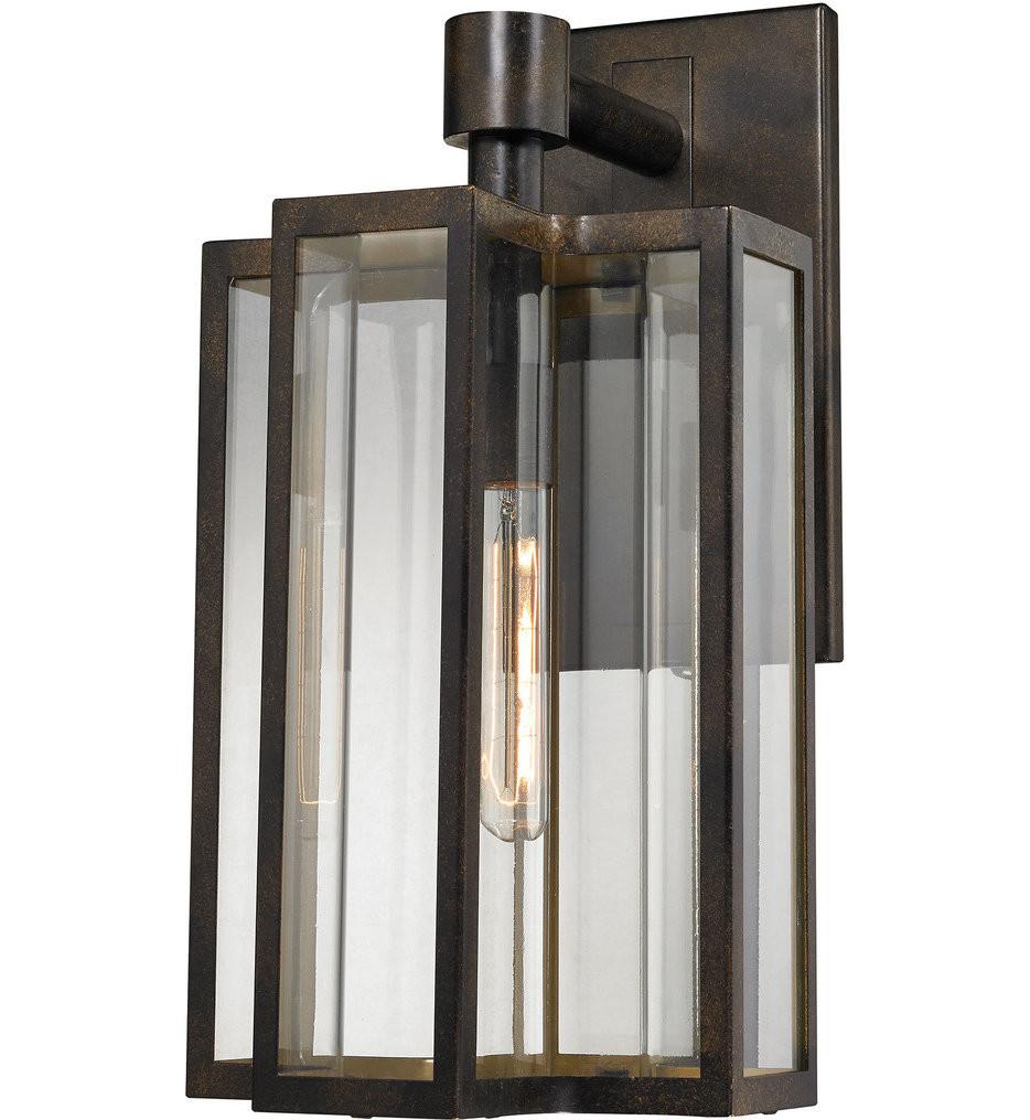 ELK Lighting - 45146/1 - Bianca Hazelnut Bronze 10 Inch 1 Light Outdoor Wall Sconce