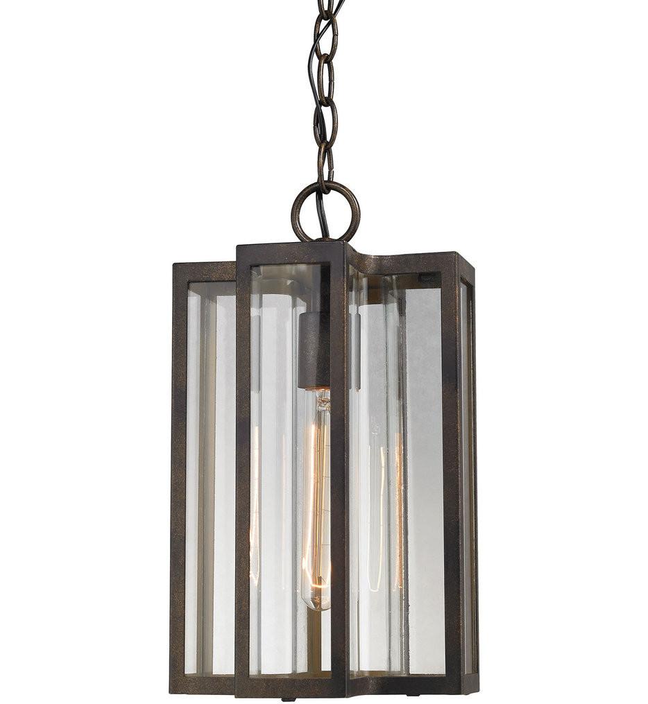 ELK Lighting - 45147/1 - Bianca Hazelnut Bronze 14 Inch 1 Light Outdoor Pendant
