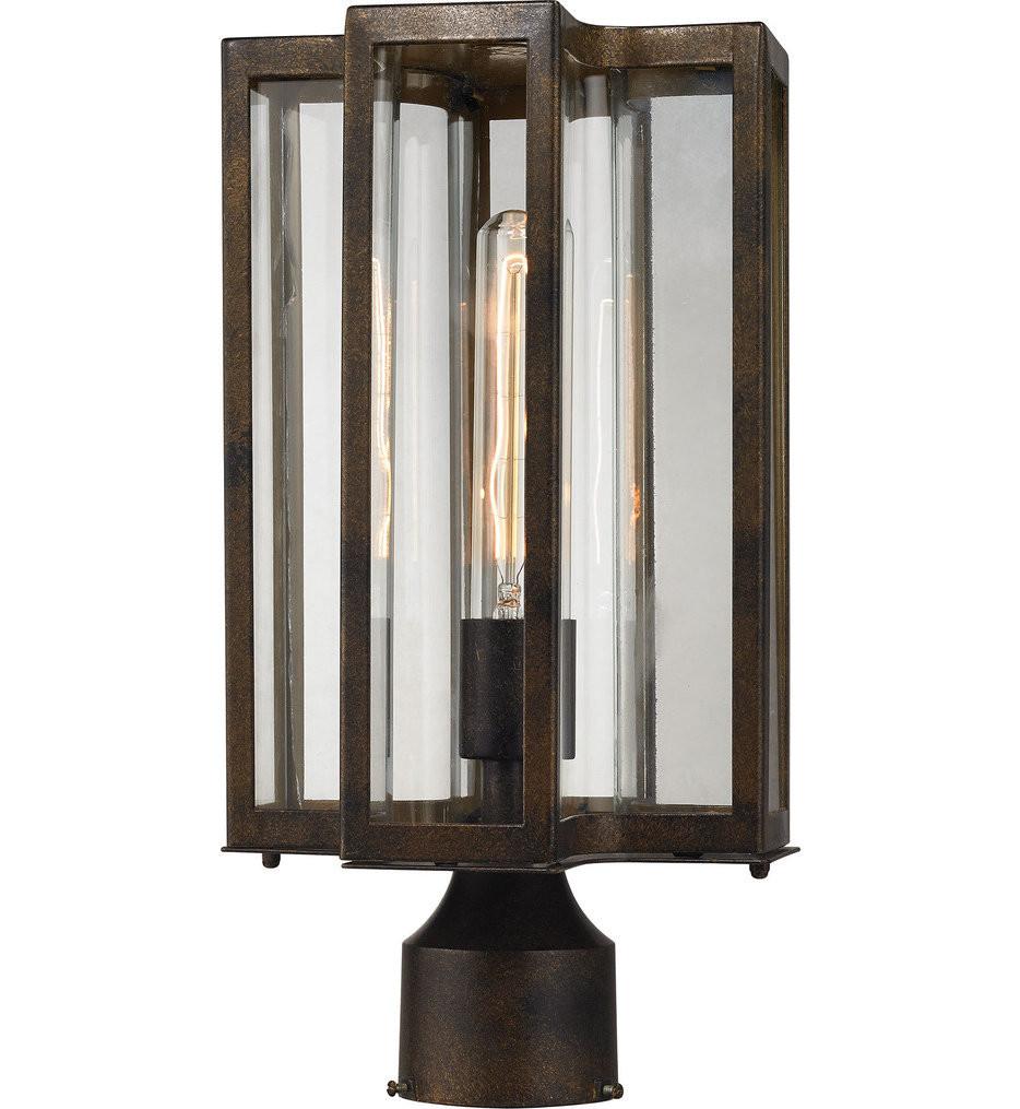 ELK Lighting - 45148/1 - Bianca Hazelnut Bronze 8 Inch 1 Light Outdoor Post Lantern