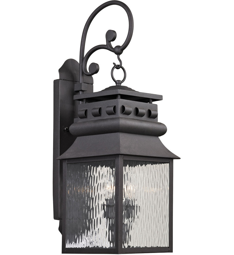 ELK Lighting - 47063/2 - Forged Lancaster Charcoal 9 Inch 2 Light Outdoor Wall Sconce