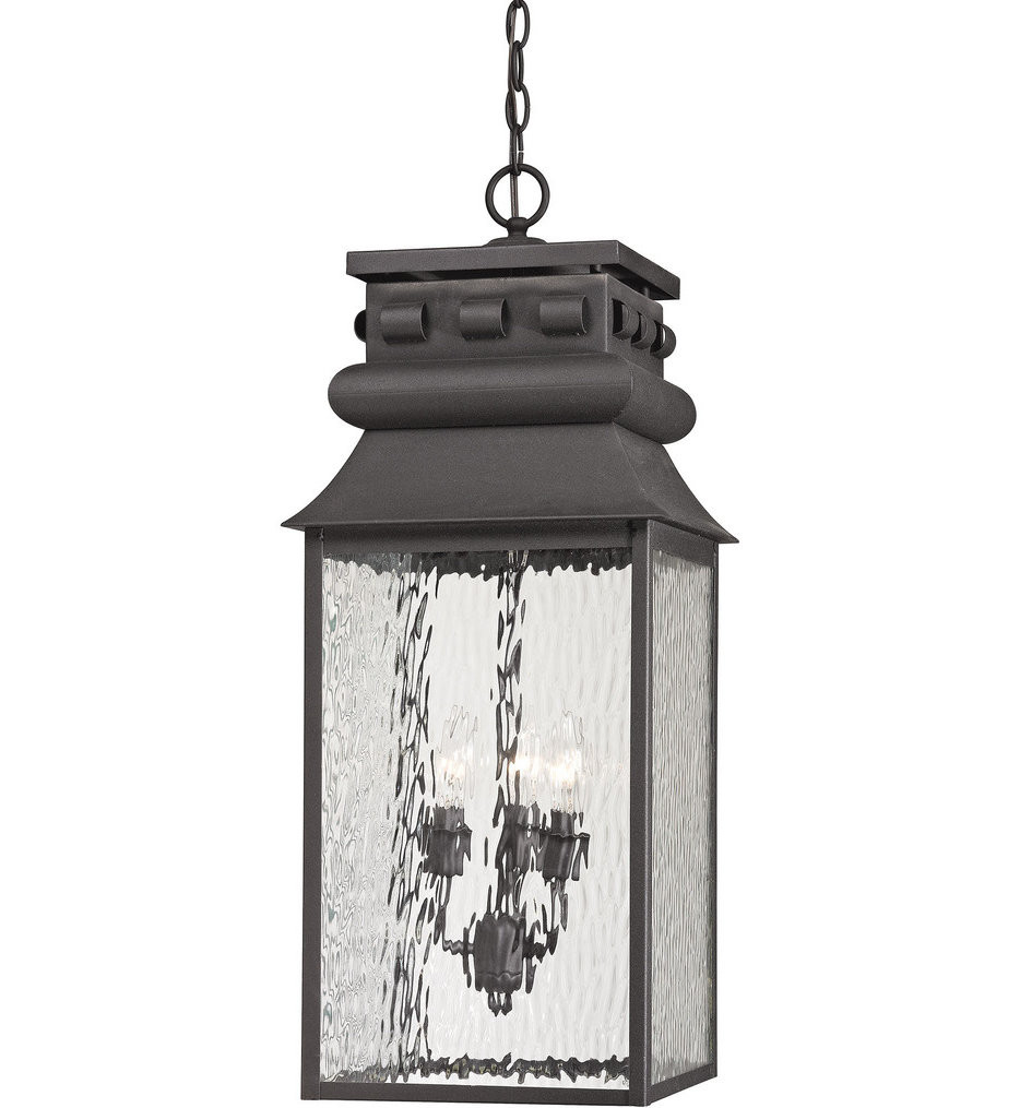 ELK Lighting - 47066/3 - Forged Lancaster Charcoal 27 Inch 3 Light Outdoor pendant