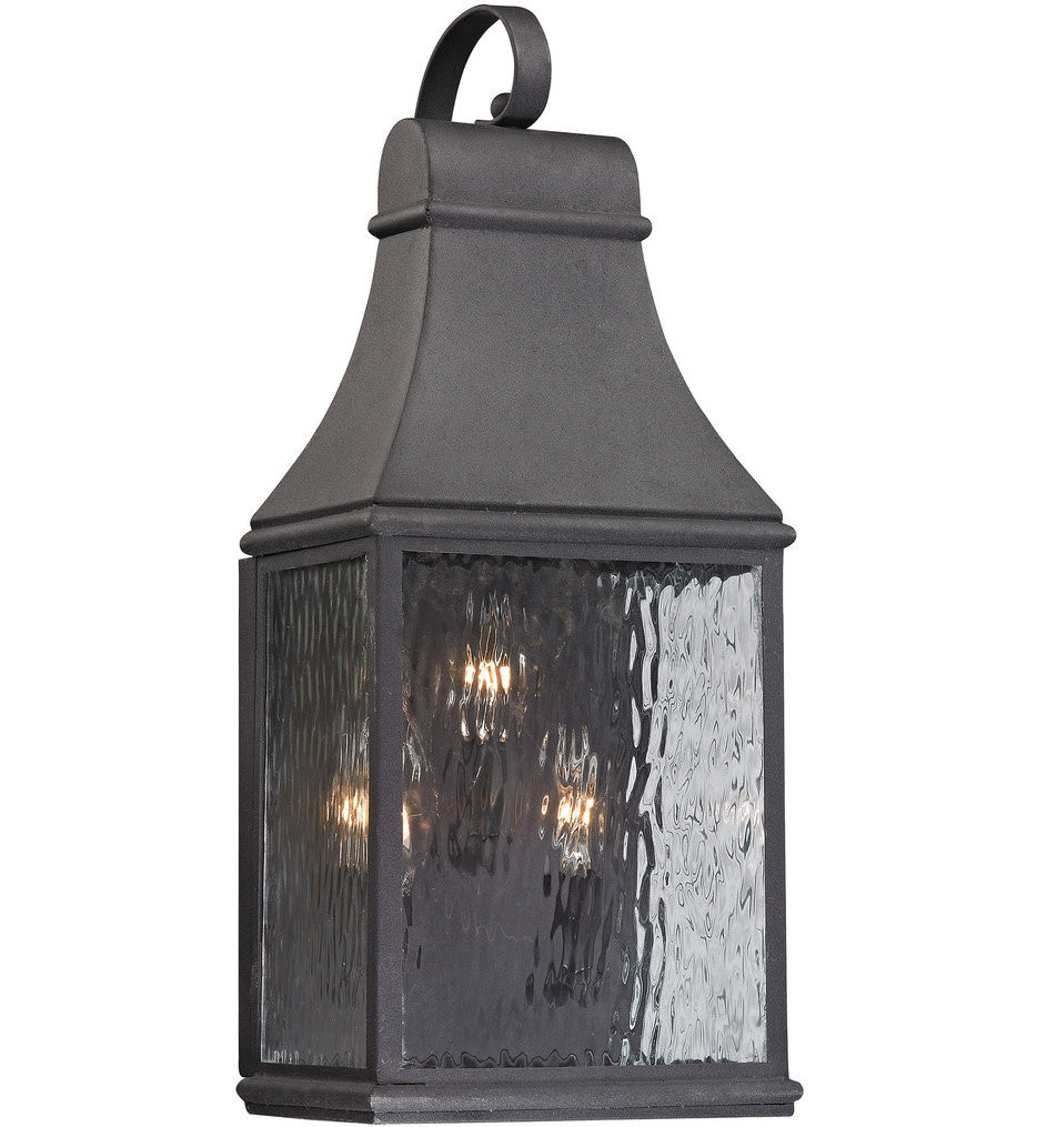 ELK Lighting - 47072/3 - Forged Jefferson Charcoal 9 Inch 3 Light Outdoor Wall Sconce