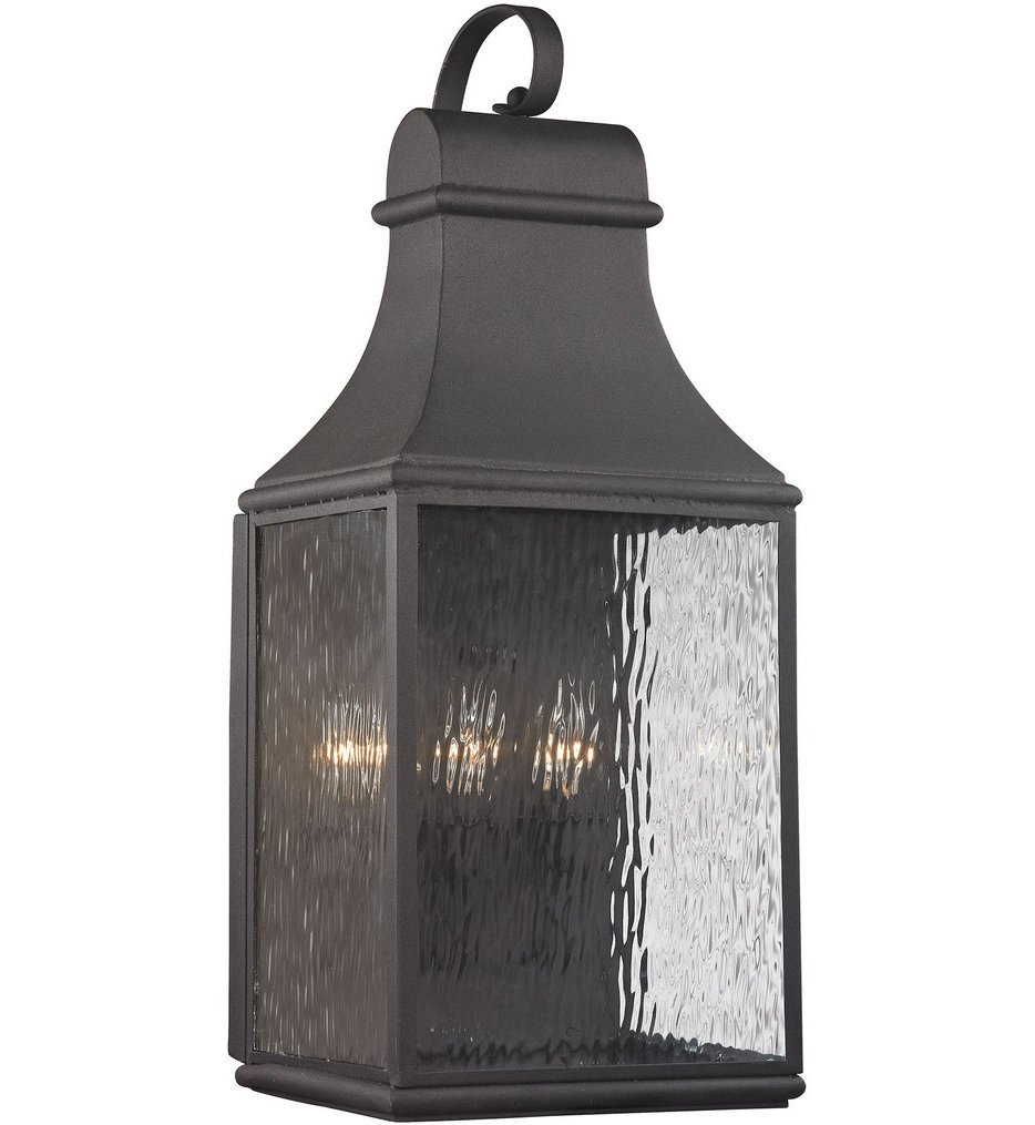 ELK Lighting - 47073/3 - Forged Jefferson Charcoal 11 Inch 3 Light Outdoor Wall Sconce