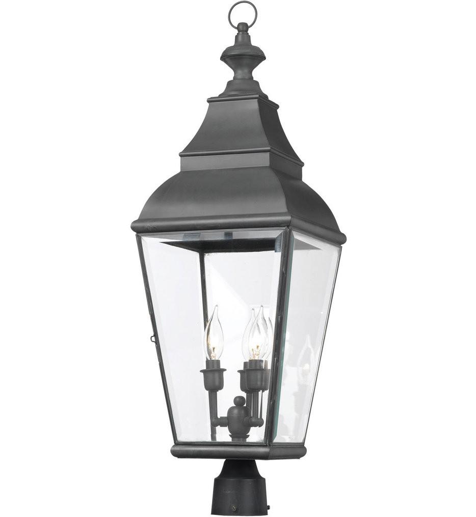 ELK Lighting - 5217-C - Bristol Charcoal 11 Inch 3 Light Outdoor Post Light