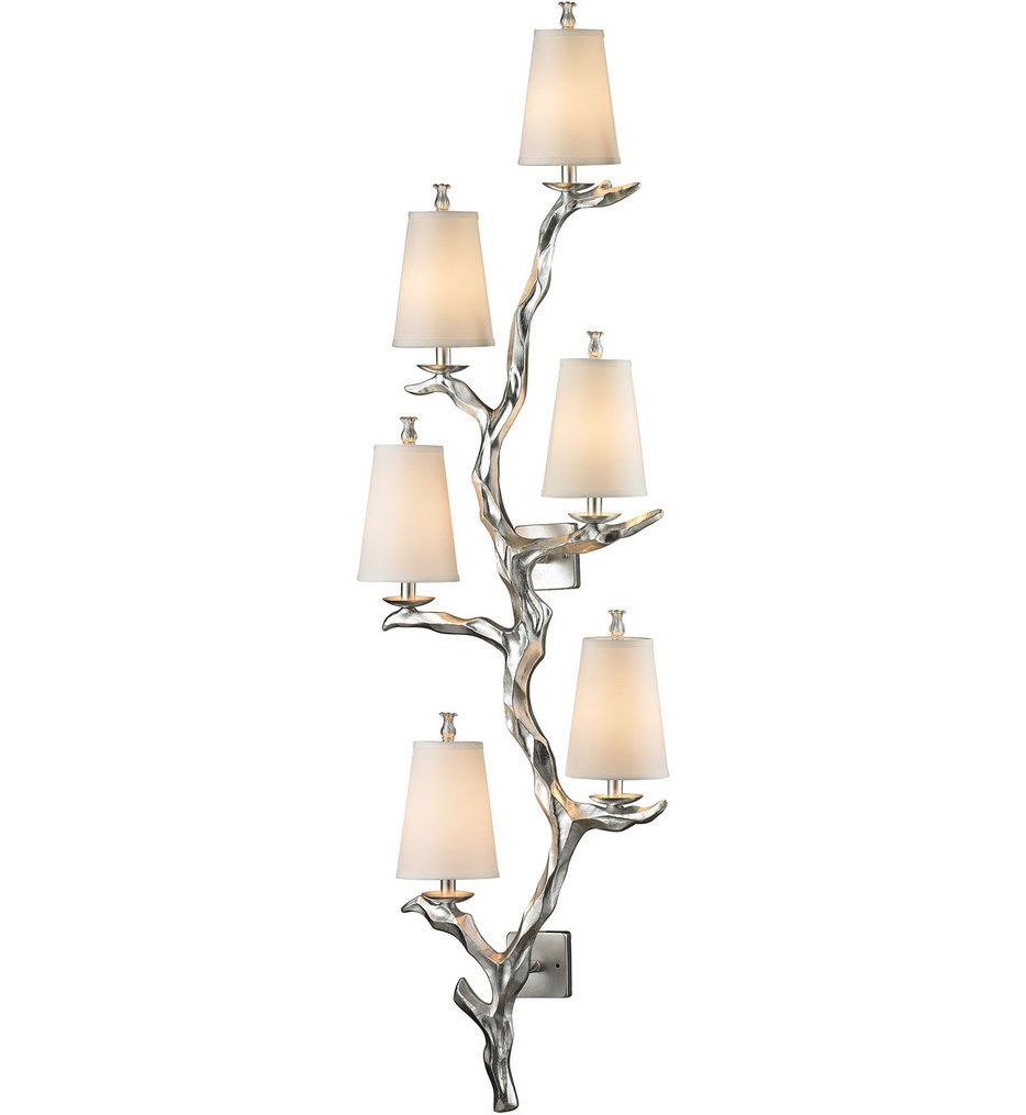 ELK Lighting - 55005/6 - Sprig Silver Leaf 19 Inch 6 Light Wall Sconce
