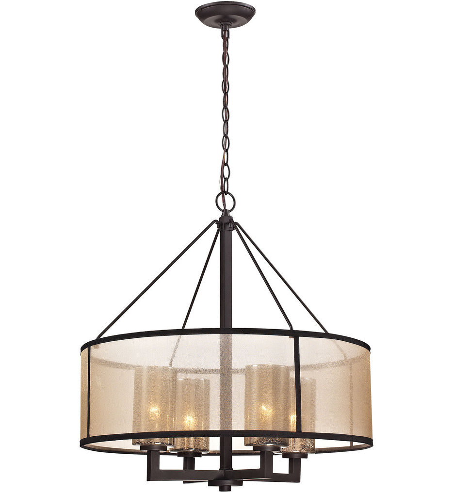 ELK Lighting - 57027/4 - Diffusion Oil Rubbed Bronze 24 Inch 4 Light Chandelier