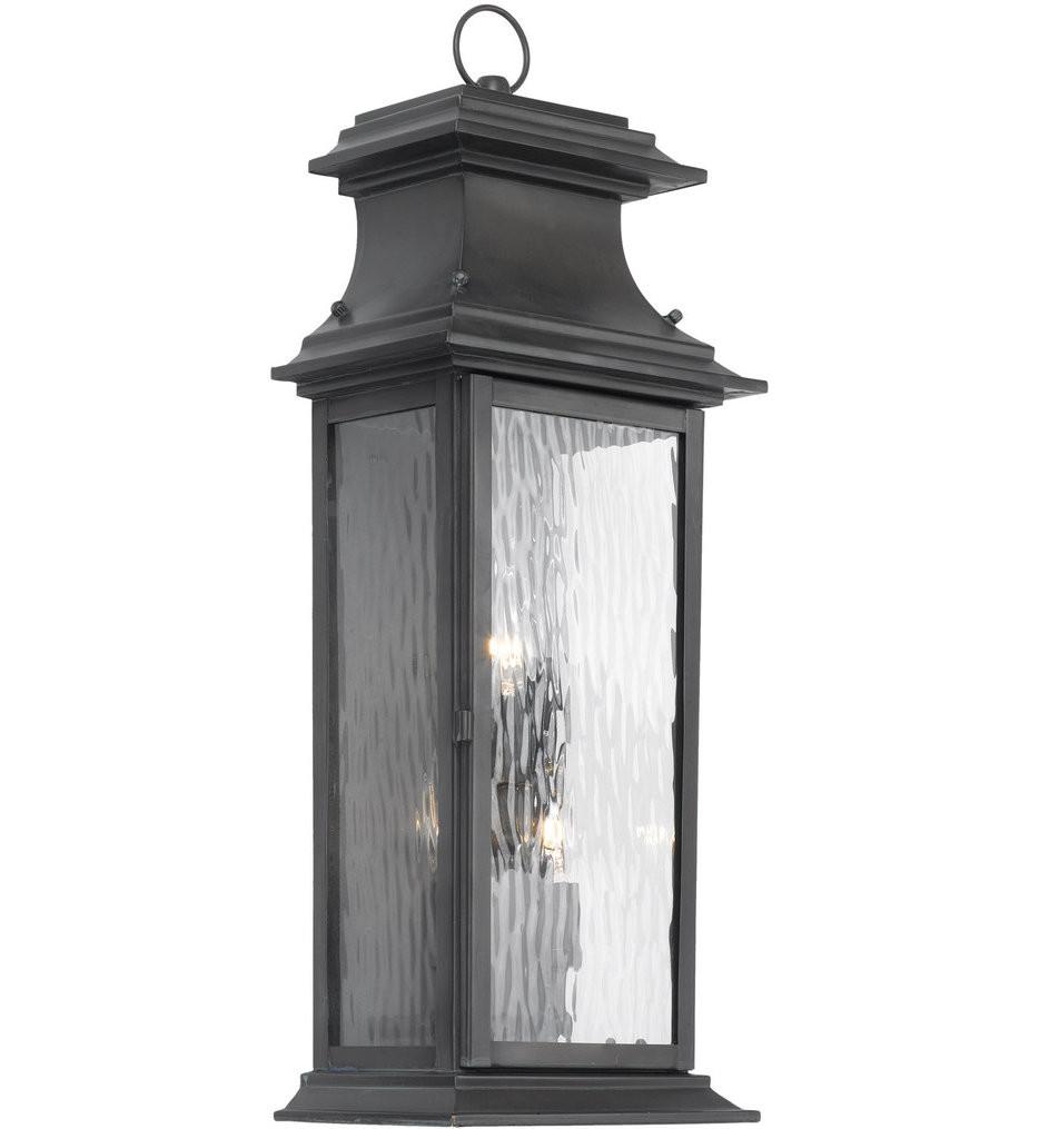 ELK Lighting - 5727-C - Charcoal 8 Inch 3 Light Outdoor Wall Lantern