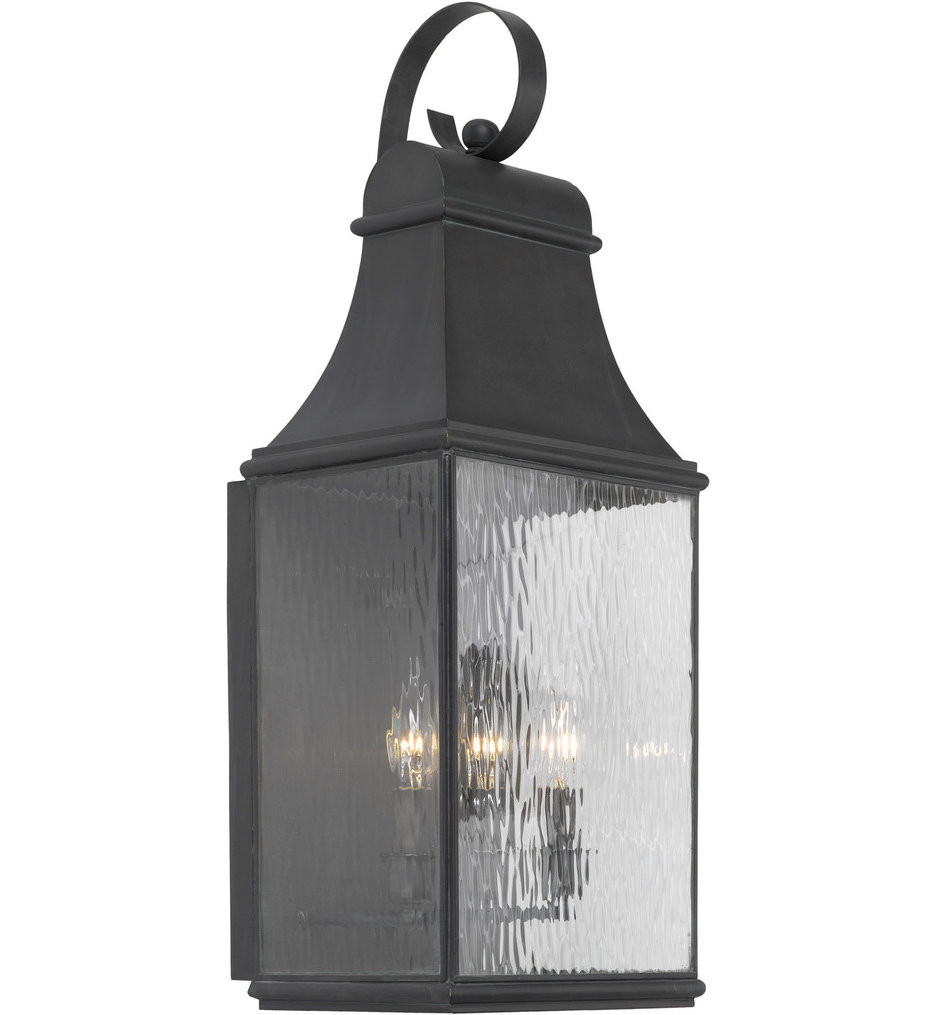 ELK Lighting - 706-C - Jefferson Charcoal 11 Inch 3 Light Outdoor Wall Sconce
