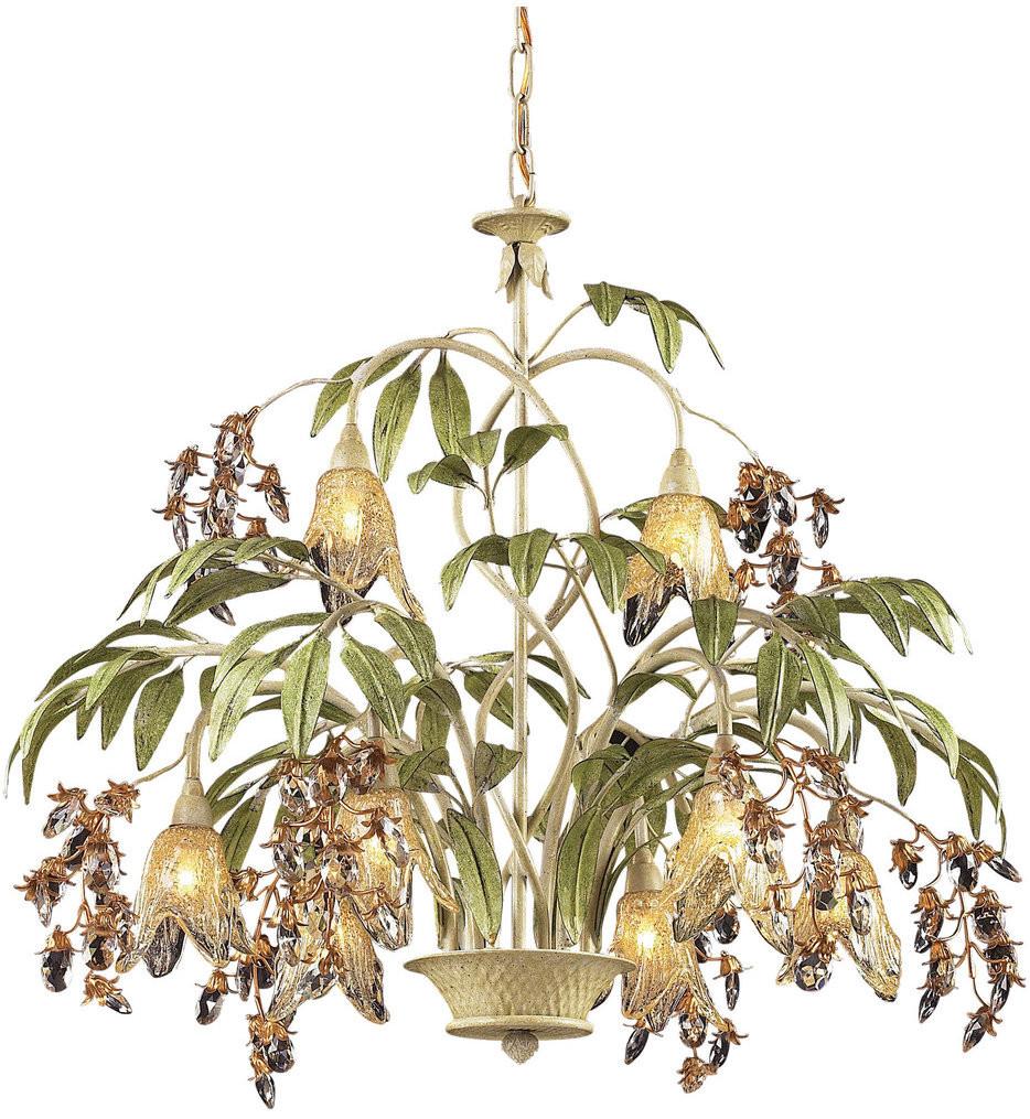ELK Lighting - 86054 - Huarco Seashell 28 Inch 8 Light Chandelier