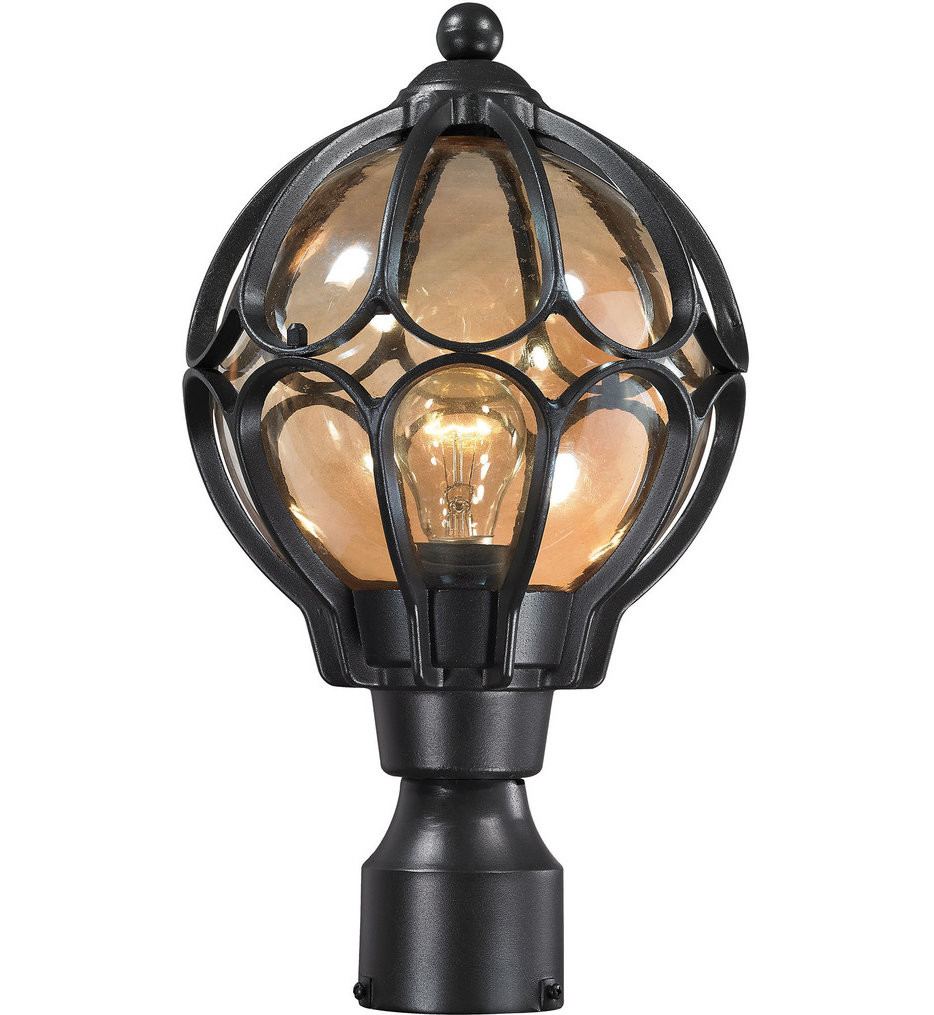 ELK Lighting - 87024/1 - Madagascar Matte Black 9 Inch 1 Light Outdoor Post Lantern