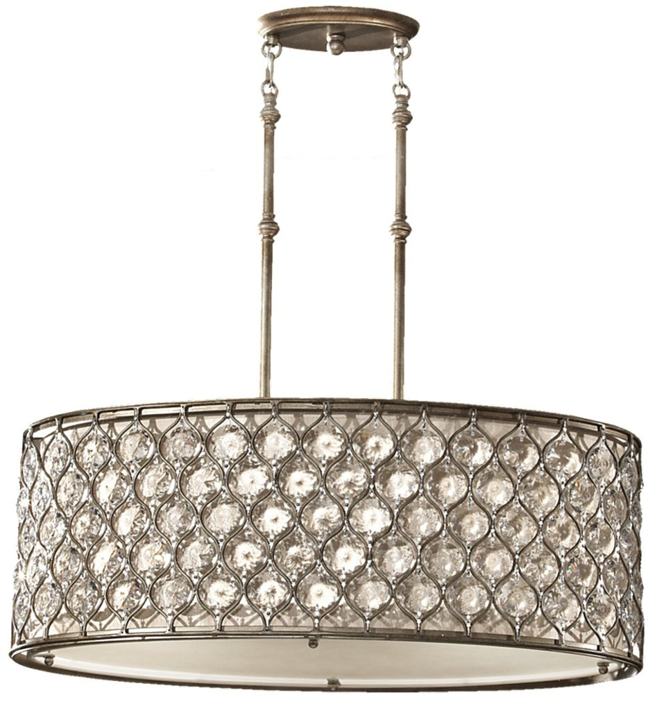 Feiss - Lucia Burnished Silver 3 Light Chandelier