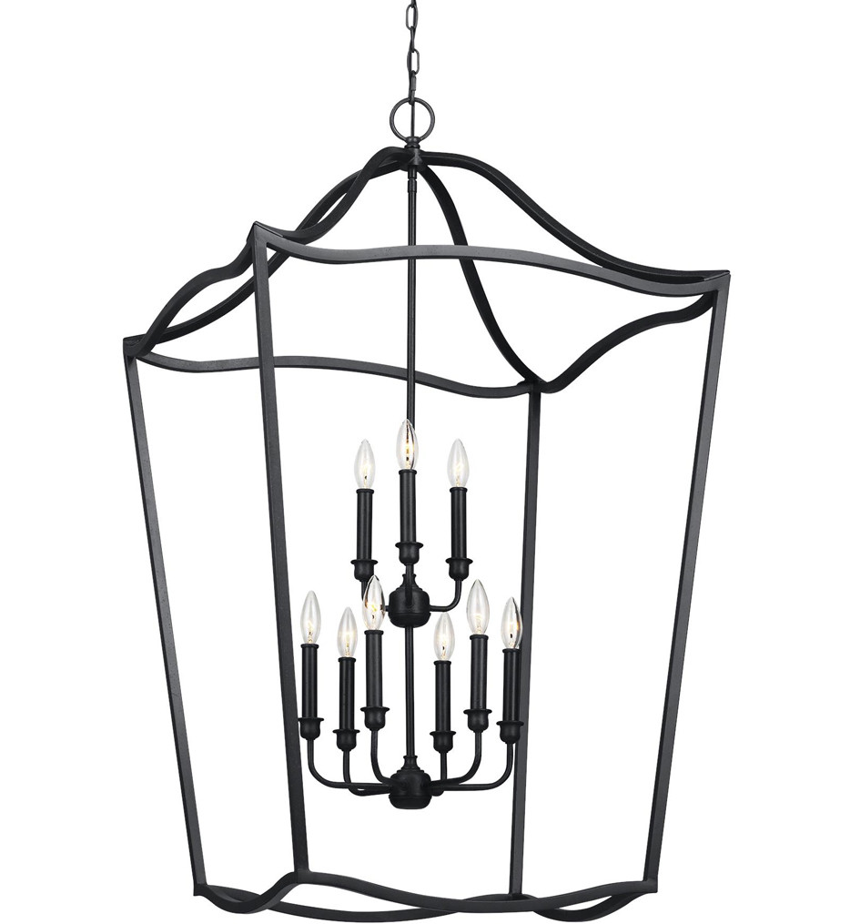 Feiss - F2977/9AF - Yarmouth Antique Forged Iron 9 Light Chandelier