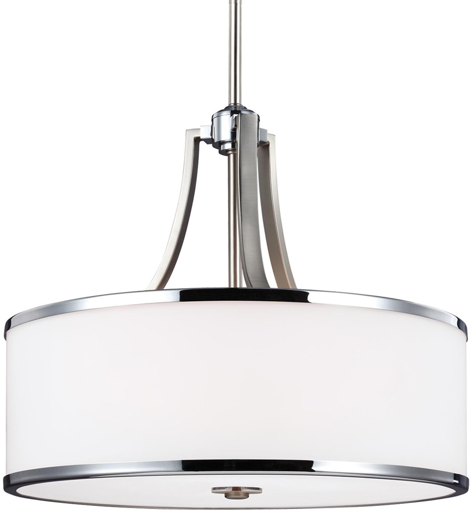 Feiss - F3087/4SN/CH - Prospect Park Satin Nickel/Chrome 4 Light Pendant