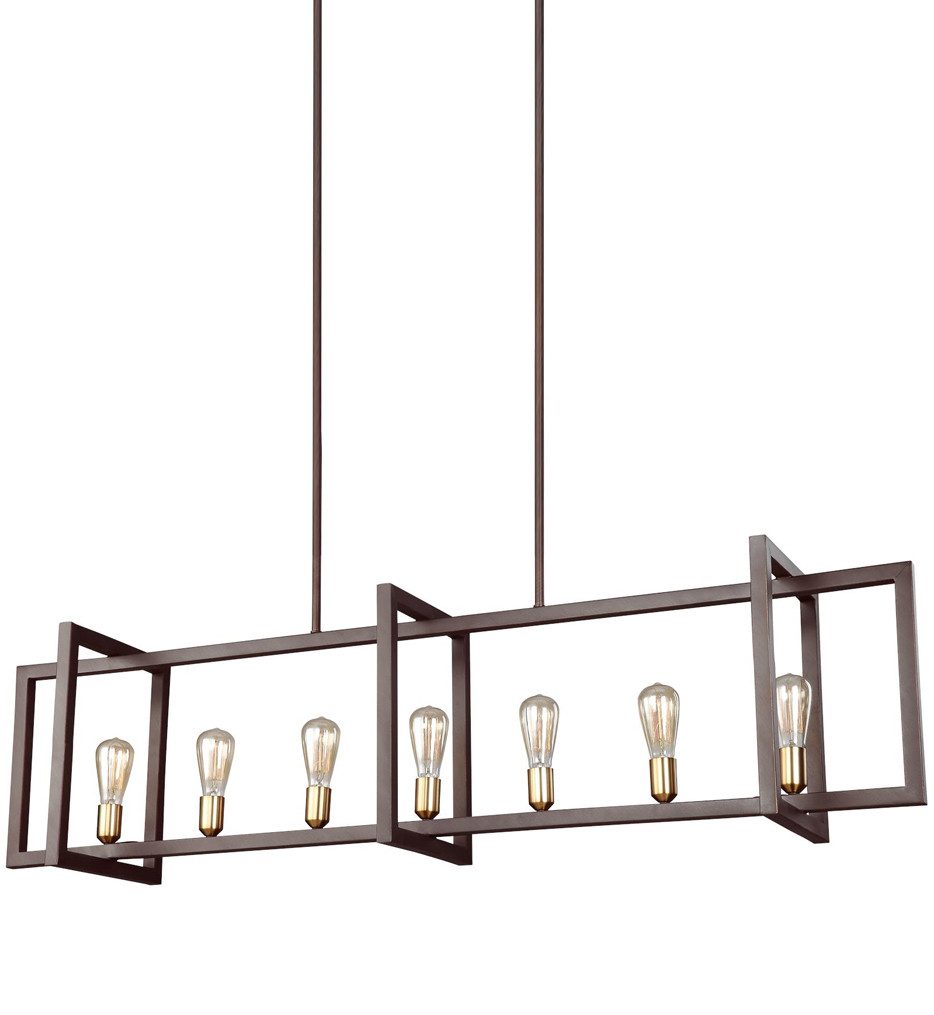 Feiss - F3148/7NWB - Finnegan New World Bronze 7 Light Island Chandelier