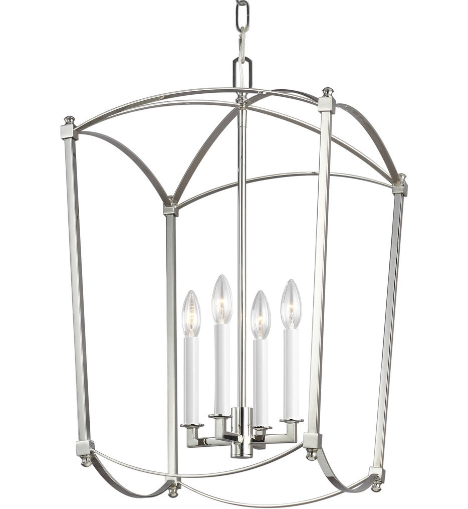Feiss - F3322/4PN - Thayer Polished Nickel 4 Light Chandelier