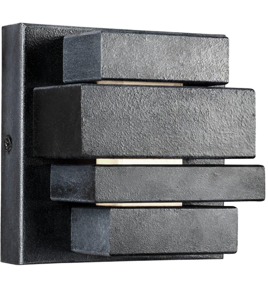 Feiss - OL11200DWZ - Ledgend Dark Weathered Zinc 5 Inch 1 Light Outdoor Wall Sconce