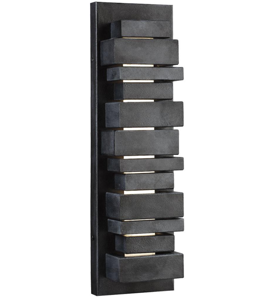 Feiss - OL11201DWZ - Ledgend Dark Weathered Zinc 17.5 Inch 1 Light Outdoor Wall Sconce