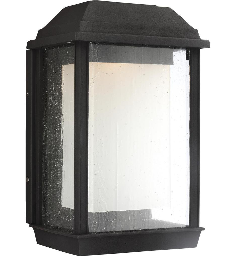 Feiss - OL12801TXB-L1 - McHenry Textured Black 13.25 Inch Outdoor Wall Lantern