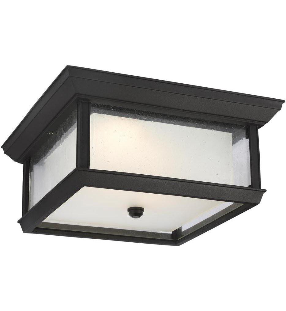 Feiss - OL12813TXB-L1 - McHenry Textured Black 1 Light Outdoor Flush Mount
