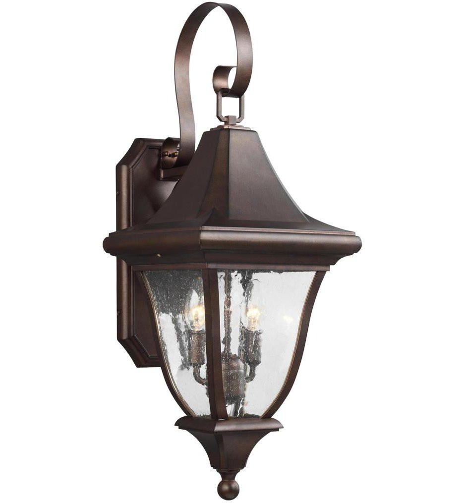 Feiss - OL13101PTBZ - Oakmont Patina Bronze 2 Light Outdoor Wall Lantern