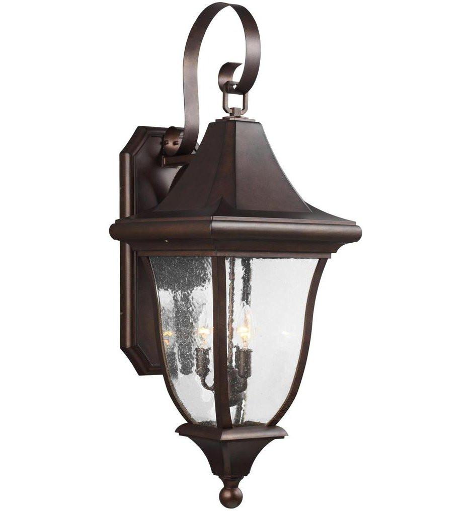Feiss - OL13102PTBZ - Oakmont Patina Bronze 3 Light Outdoor Wall Lantern