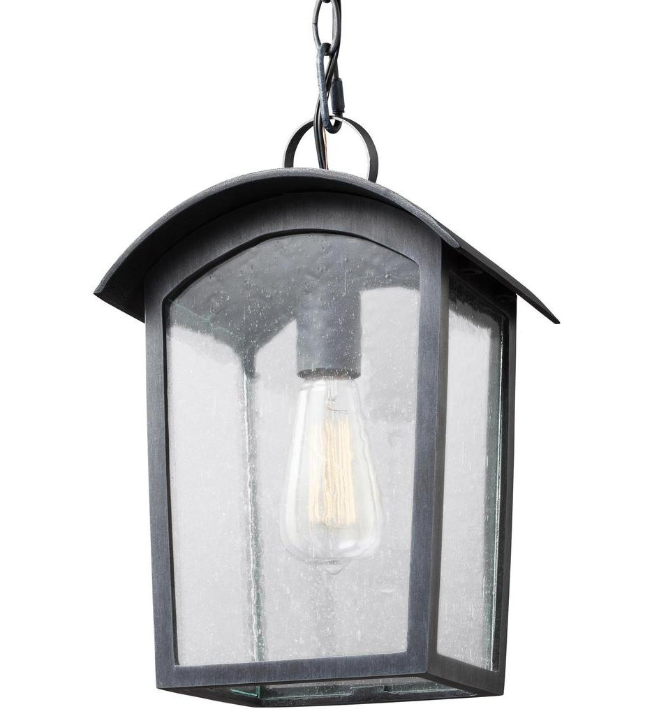 Feiss - OL13309ABLK - Hodges Ash Black 13.75 Inch Outdoor Hanging Lantern