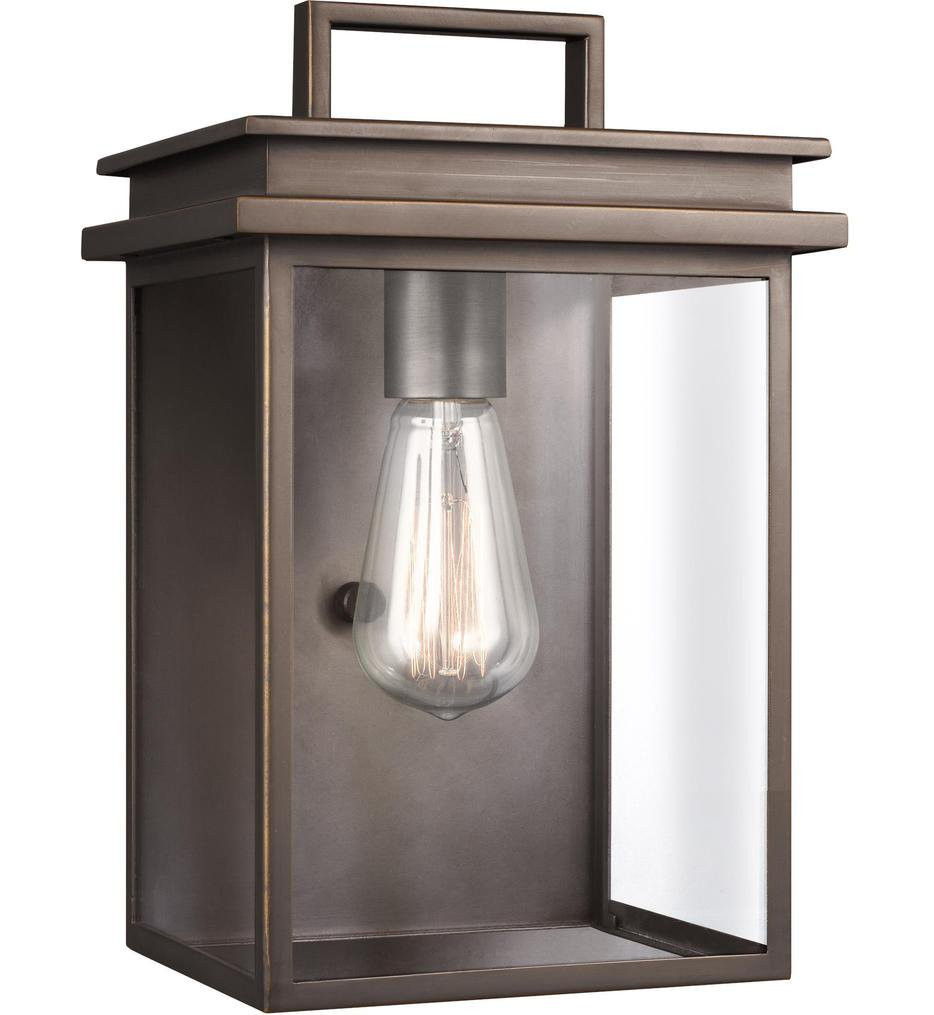 Feiss - OL13601ANBZ - Glenview Antique Bronze 12 Inch Outdoor Wall Lantern