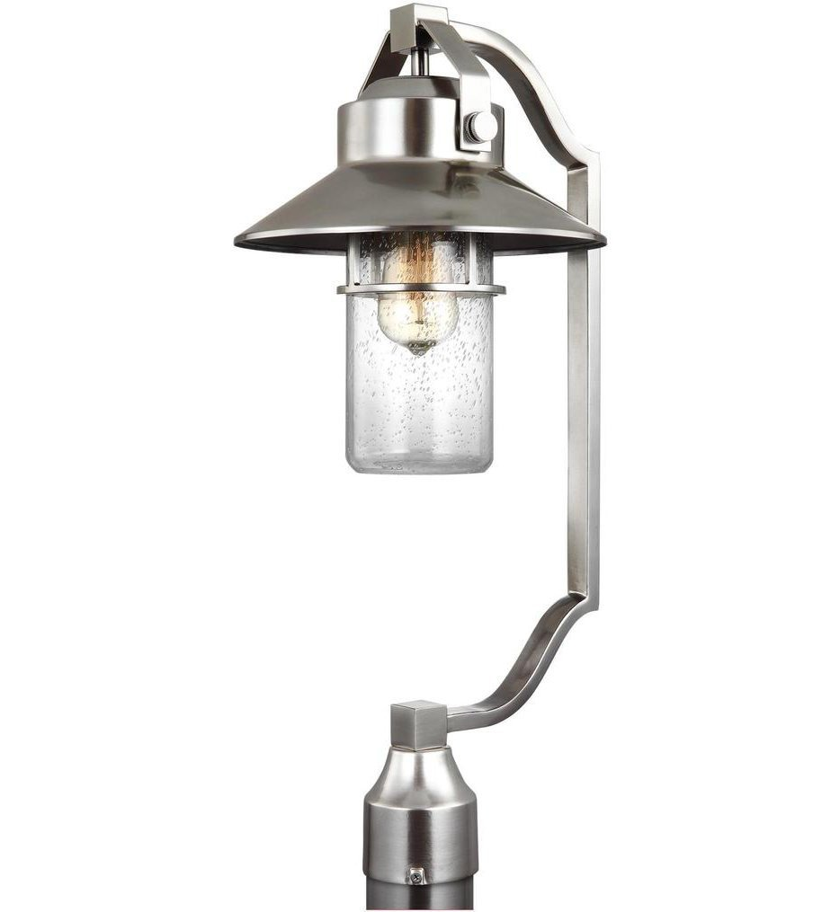 Feiss - OL13908PBS - Boynton Painted Brushed Steel 24.5 Inch Outdoor Post Lantern