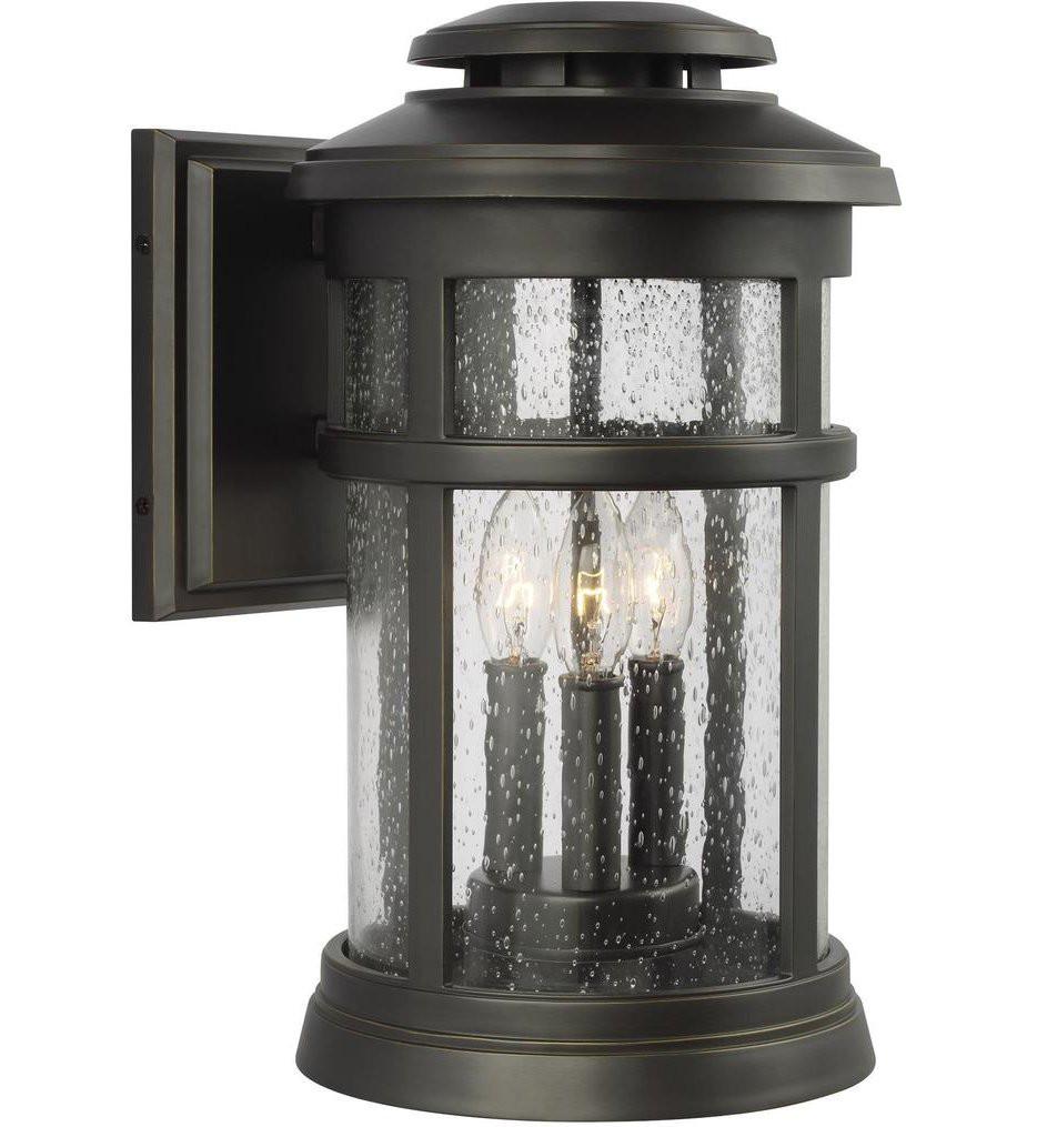 Feiss - OL14302ANBZ - Newport Antique Bronze 16 Inch 3 Light Outdoor Wall Lantern