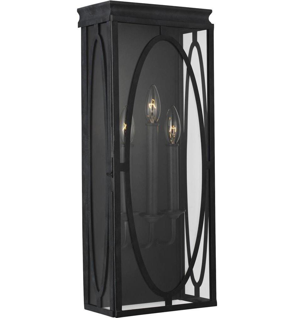 Feiss - OL14310DWZ - Patrice Dark Weathered Zinc 3 Light Outdoor Wall Lantern