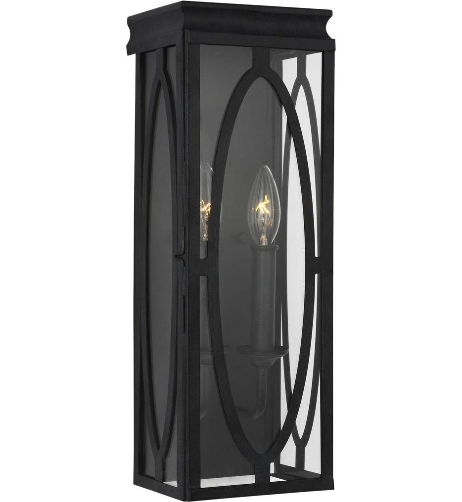 Feiss - OL14311DWZ - Patrice Dark Weathered Zinc 2 Light Outdoor Wall Lantern
