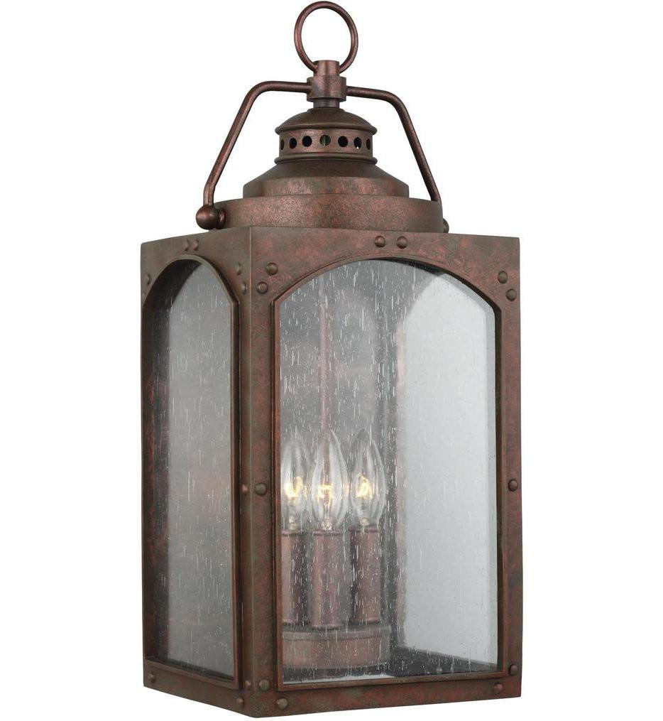 Feiss - OL14372CO - Randhurst Copper Oxide 3 Light Outdoor Wall Lantern