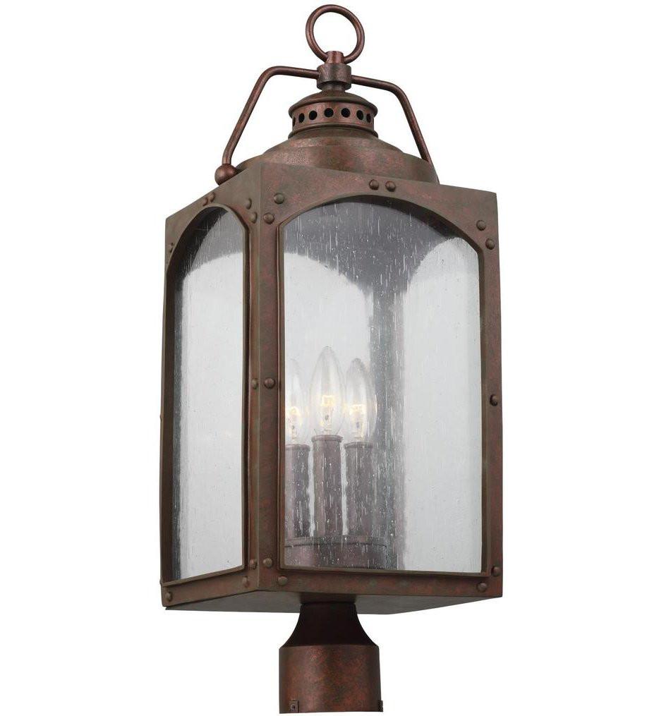 Feiss - OL14373CO - Randhurst Copper Oxide 3 Light Outdoor Post Lantern