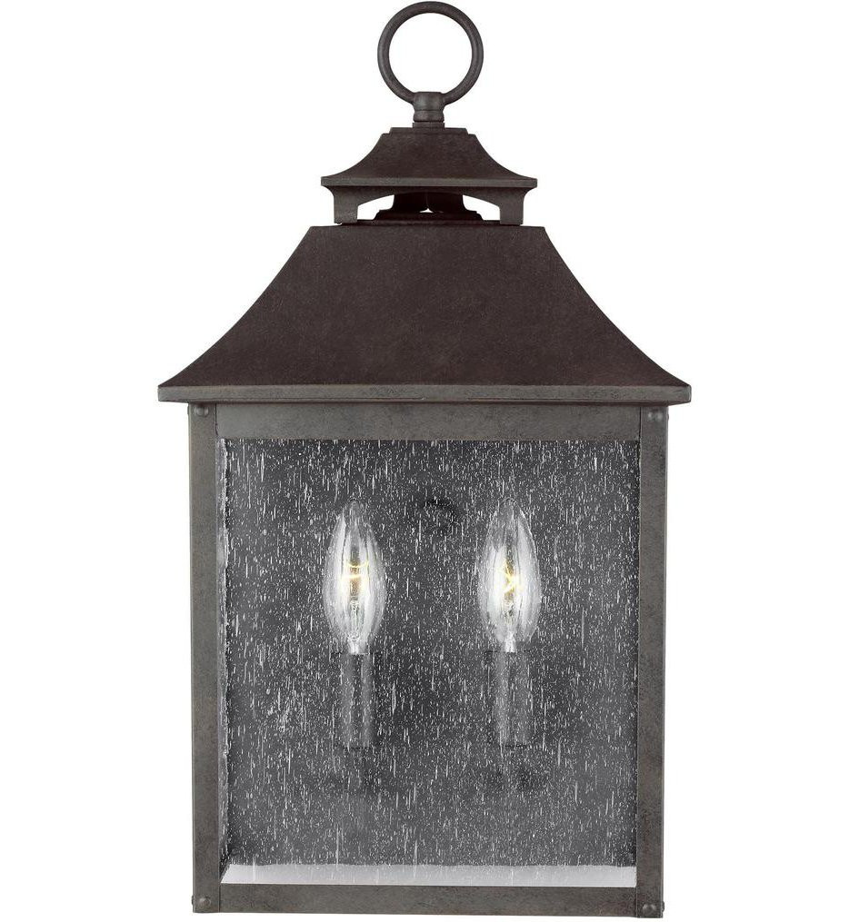 Feiss - OL14400SBL - Galena Sable 17 Inch 2 Light Outdoor Wall Lantern