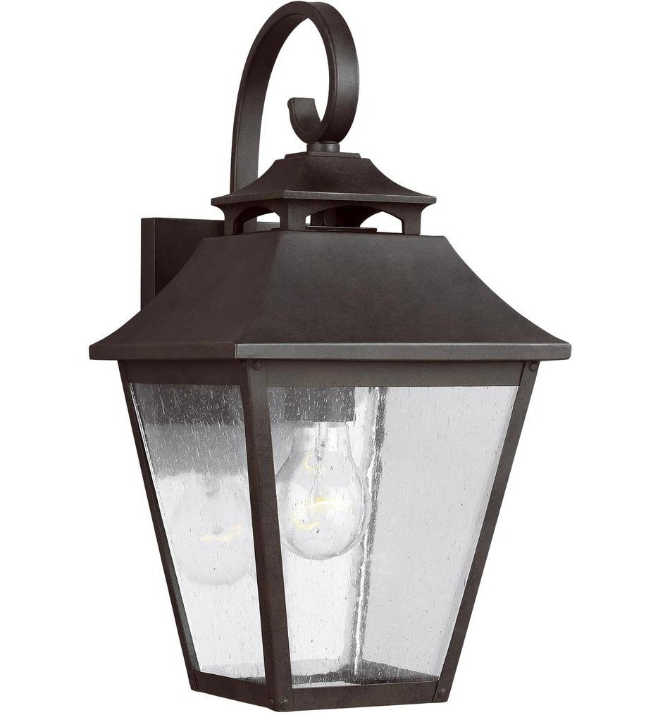 Feiss - OL14402SBL - Galena Sable 16 Inch 1 Light Outdoor Wall Lantern
