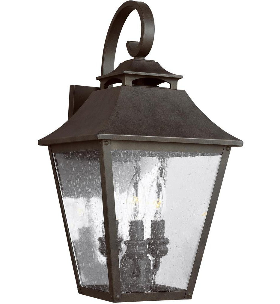 Feiss - OL14403SBL - Galena Sable 19 Inch 3 Light Outdoor Wall Lantern
