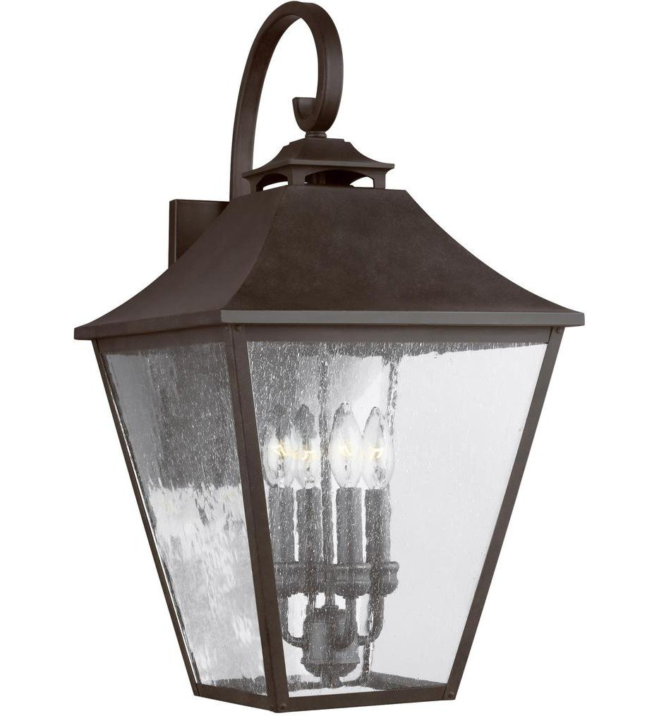 Feiss - OL14404SBL - Galena Sable 25.38 Inch 4 Light Outdoor Wall Lantern