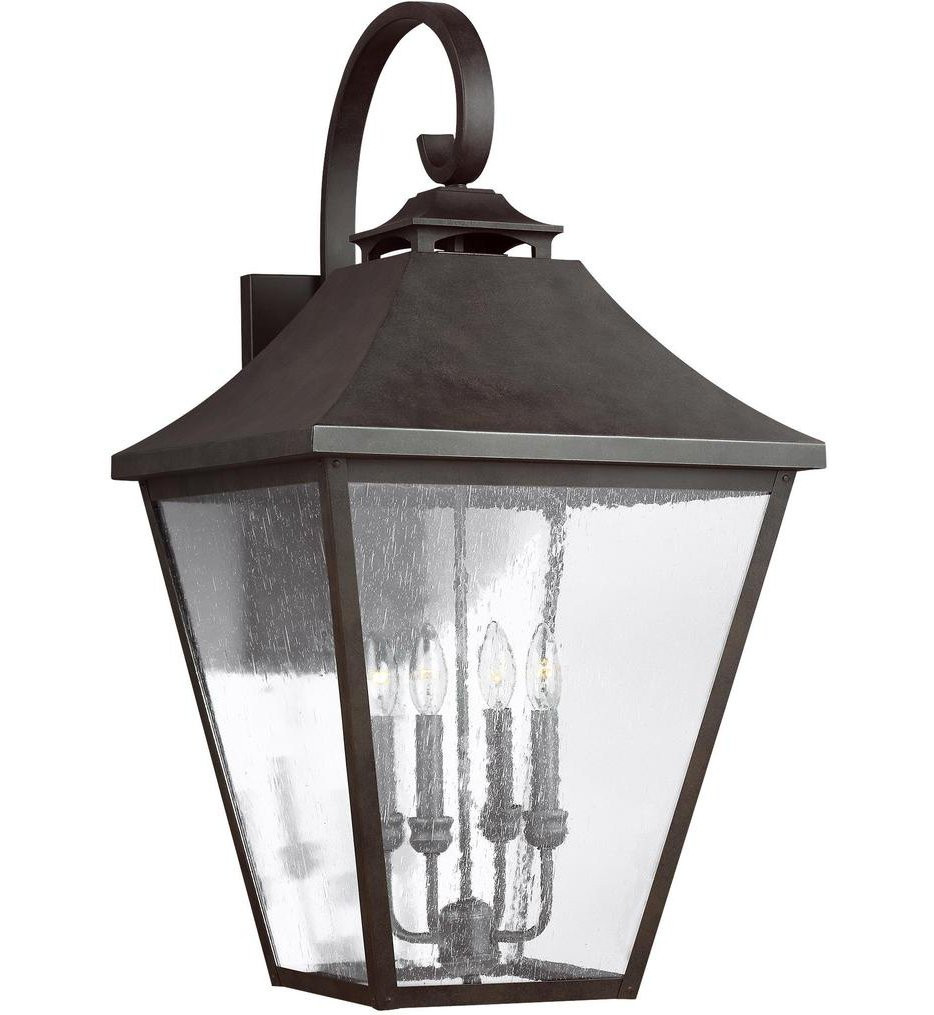 Feiss - OL14405SBL - Galena Sable 33.38 Inch 4 Light Outdoor Wall Lantern