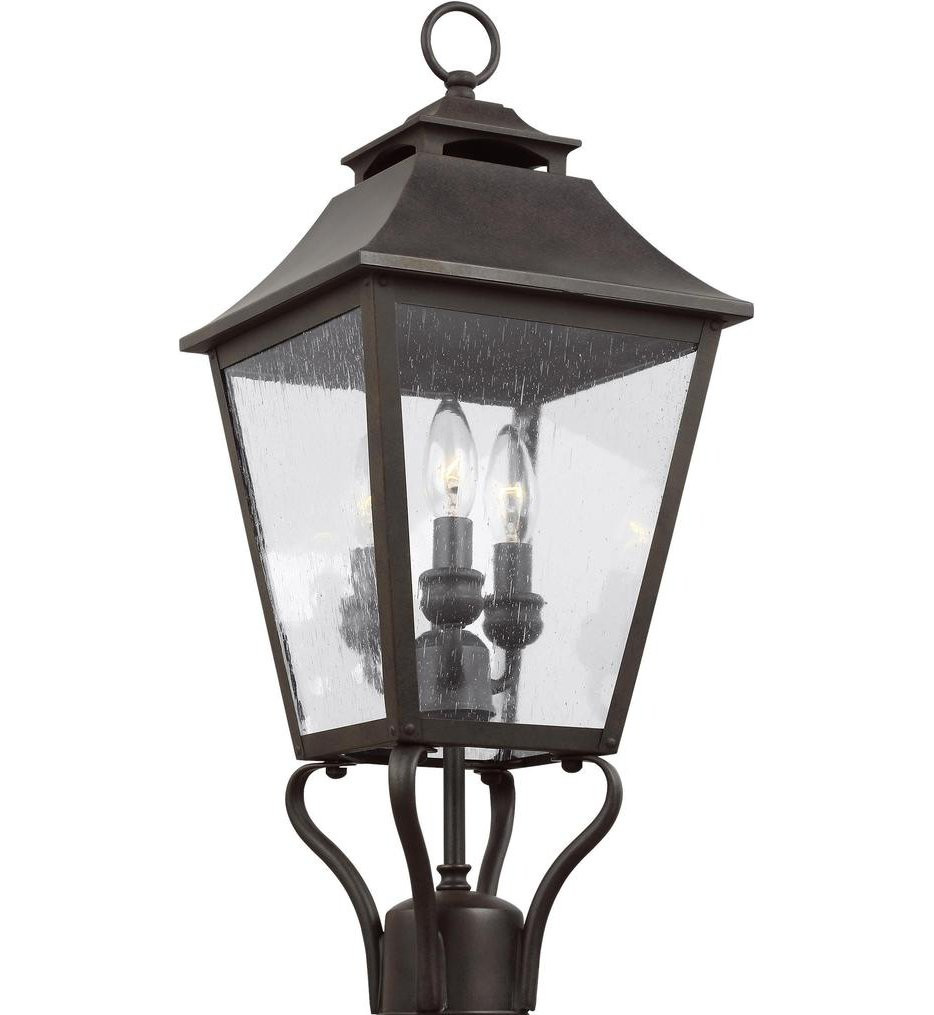 Feiss - OL14406SBL - Galena Sable 23.25 Inch 3 Light Outdoor Post Lantern