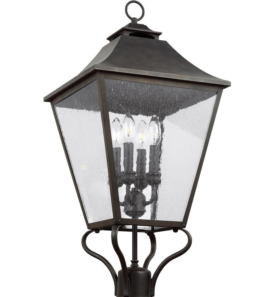 Feiss - OL14407SBL - Galena Sable 29 Inch 4 Light Outdoor Post Lantern