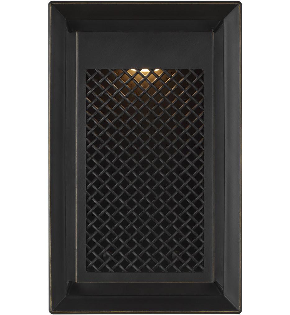 Feiss - OL15101ANBZ-L1 - Milton Antique Bronze 13 Inch 1 Light Outdoor Wall Lantern