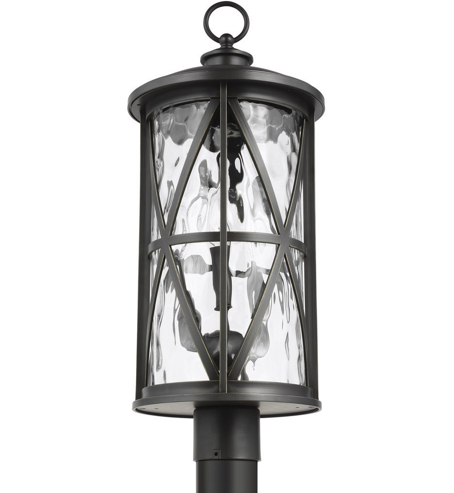 Feiss - OL15207ANBZ - Millbrooke Antique Bronze 3 Light Outdoor Post Lantern