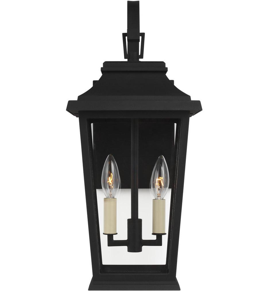 Feiss - OL15401TXB - Warren Textured Black 2 Light Outdoor Wall Lantern
