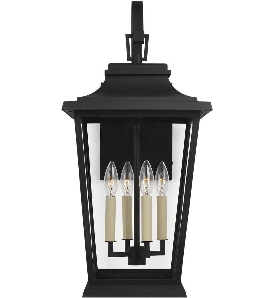 Feiss - OL15403TXB - Warren Textured Black 25.63 Inch 4 Light Outdoor Wall Lantern