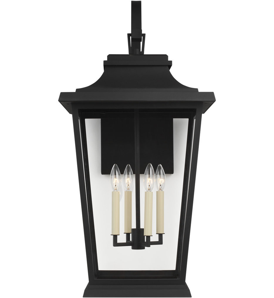Feiss - OL15404TXB - Warren Textured Black 33.13 Inch 4 Light Outdoor Wall Lantern