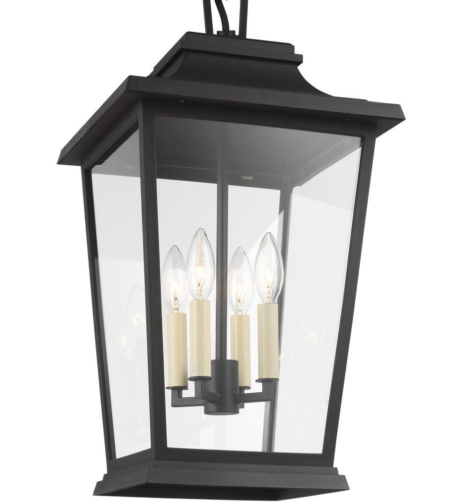 Feiss - OL15409TXB - Warren Textured Black 4 Light Outdoor Pendant