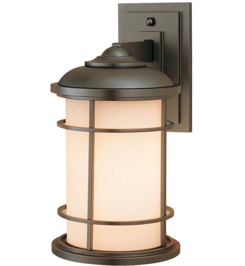 Feiss - OL2201BB - Lighthouse Burnished Bronze 13.5 Inch Incandescent Outdoor Wall Lantern