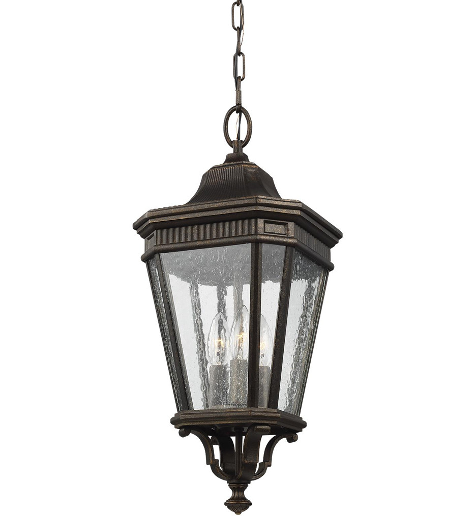 Feiss - Cotswold Lane 21.5 Inch 3 Light Outdoor Hanging Lantern