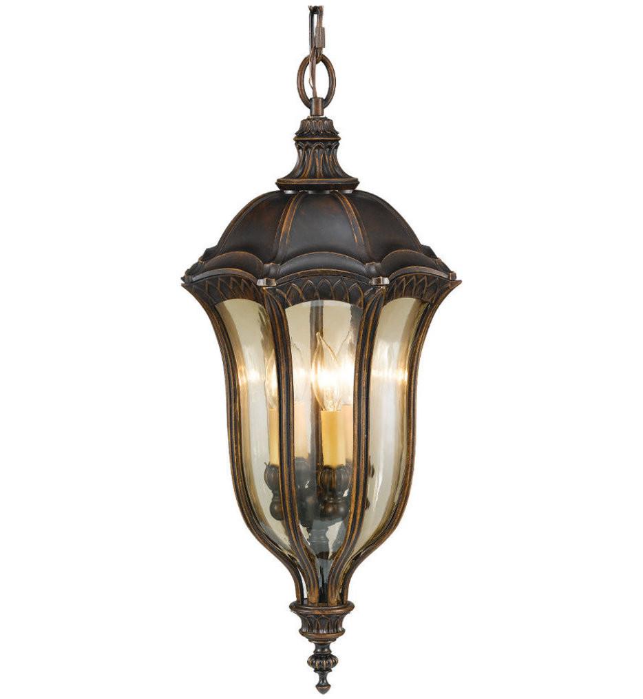 Feiss - OL6012WAL - Baton Rouge Walnut 4 Light Outdoor Pendant