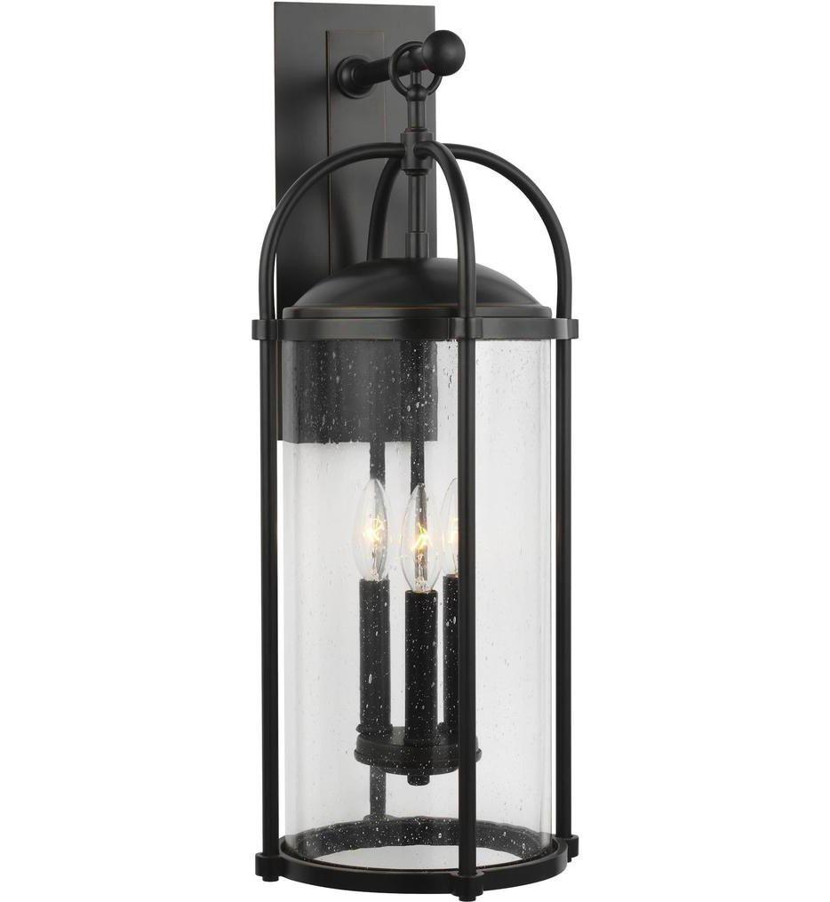 Feiss - OL7623ES - Dakota Espresso 3 Light Outdoor Wall Lantern